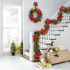 Pre-Lit Poinsettia Collection,