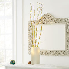 Pre-Lit Shimmer Branches with Timer, Set of 5 Cordless, GOLD
