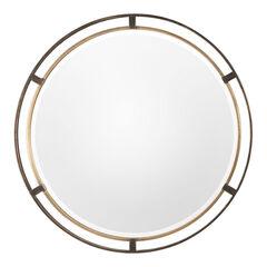 Carrizo Bronze Round Mirror,