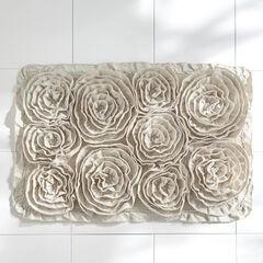 Fleur de Chic Rectangular Bath Rug,
