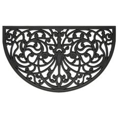 "Wrought Iron Rubber Mat 18"" x 30"", BLACK SWIRL"