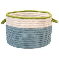 Cali Stripe Blue Splash Basket, BLUE
