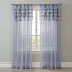 BH Studio Sheer Voile Ruffle Panel, SLATE
