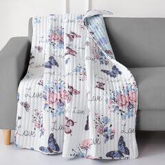 Garden Joy Quilted Throw Blanket,