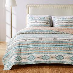 Phoenix Turquoise Quilt Set,