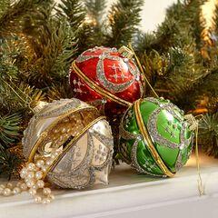 Set of 3 Jewelry Box Ornaments,