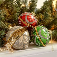 Set of 3 Jewelry Box Ornaments,