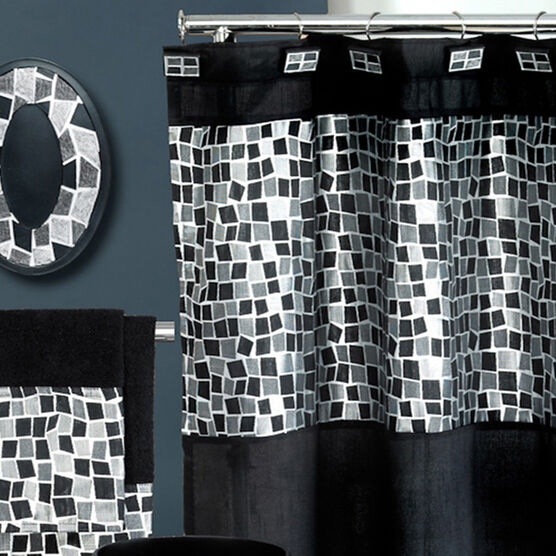 Mosaic Stone Shower Curtain,