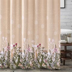 Dandelion Taupe Bath Shower Curtain,