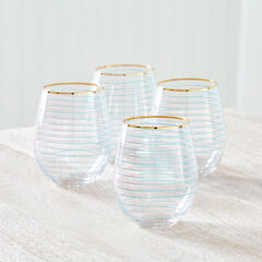 Tessa Stemless Wine Glasses, Set of 4,