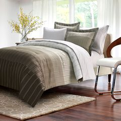 Ombre Stripe Taupe Bed-In-Bag,