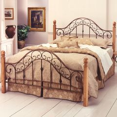 King Bed with Bed Frame, 83½'Lx80½'Wx52¼'H,