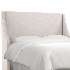 Swoop Arm Wingback Headboard,