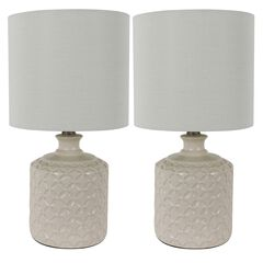 Ivory Ceramic 2-Pack LED Table Lamps,