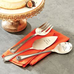 Stamped Serving Utensils, Set of 3,