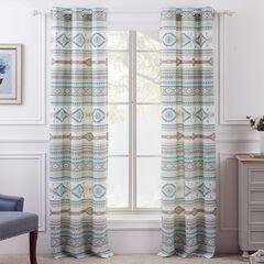 Phoenix Turquoise Curtain Panel Pair,