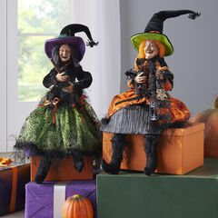"30""H Posable Witches,"