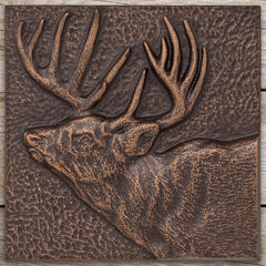 "Buck 8"" x 8"" Indoor Outdoor Wall Décor,"