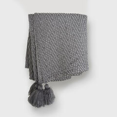Herringbone Tassel Throw,