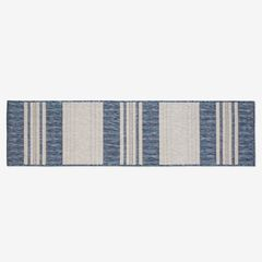 "Carmel Indoor/Outdoor Bold Stripe Rug 1'11"" x 7'6"", NAVY"