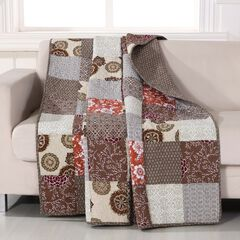 Greenland Home Fashions Stella Quilted Patchwork Throw Blanket,