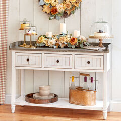 3-Drawer Console Table,