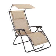 Zero Gravity Chair With Pillow And Canopy,