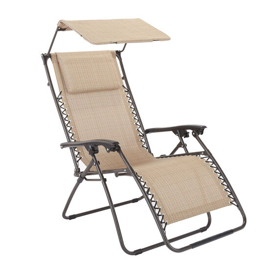 Zero Gravity Chair With Pillow And Canopy