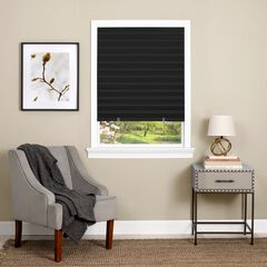 Cordless 1-2-3 Vinyl Room Darkening Pleated Window Shade,