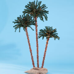 Pre-Lit 3-Branch Palm Tree,