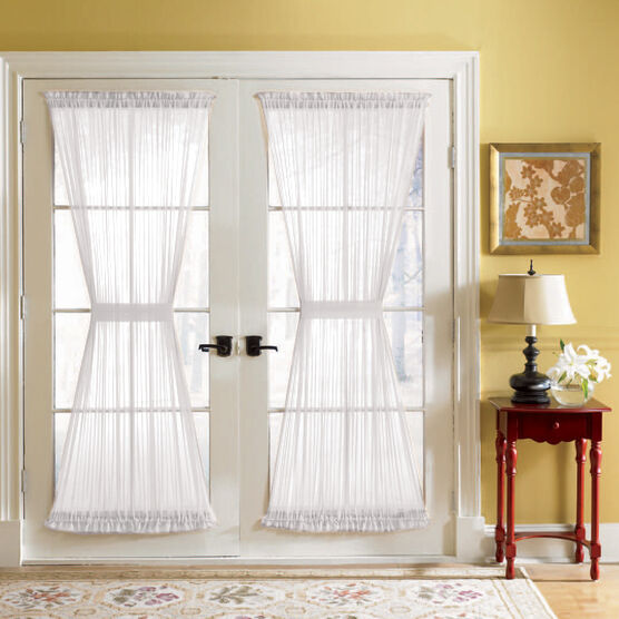 BH Studio Sheer Voile Door Panel With Tiebacks,