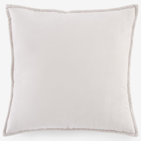 "BH Studio 20""Sq. Velvet Pillow Cover, IVORY"