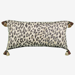 Faux Suede Animal Print Reversible Decorative Pillow,