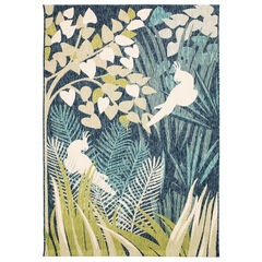 Liora Manne Portofino Jungle Bird Indoor/Outdoor Rug,
