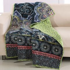 Barefoot Bungalow Twyla Quilted Throw Blanket, MIDNIGHT
