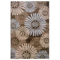 Milan Brown/Aqua 2'X3' Area Rug,