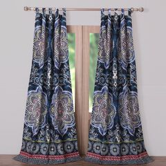 Twyla Midnight Curtain Panel Pair by Barefoot Bungalow,