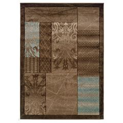 Milan Brown/Black 8'X10' Area Rug,