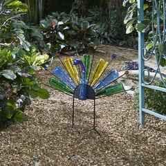 Glass Bottle Peacock,