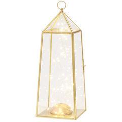 Medium Pre-Lit Glass Lantern,