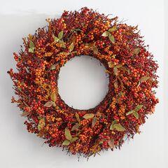 26' Harvest Berry Wreath,