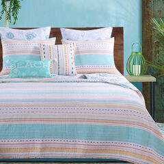 Pacifica Aqua Quilt Set by Barefoot Bungalow,