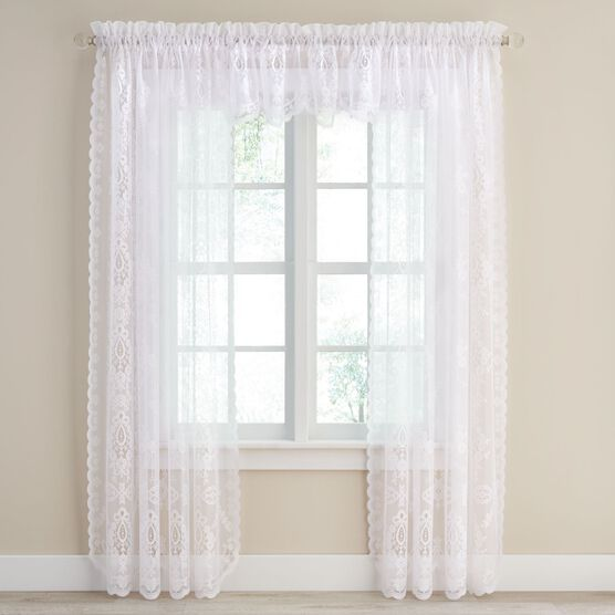 Marie Floral Lace Valance,