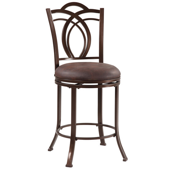 Calif Metal Counter Stool, COFFEE BROWN
