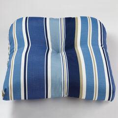 Tufted Wicker Chair Cushion, BELLA DENIM