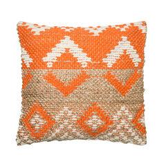 Woven Cabin Square Decorative Pillow,