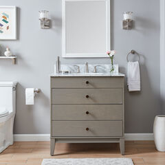 Lyleston Farmhouse Vanity Sink w/ Marble Top,