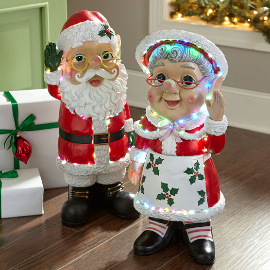 Mrs Claus Pre Lit Statue Plus Size Christmas Brylane Home