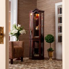 Lighted Corner Curio Cabinet,
