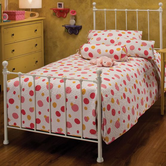 Full Bed with Bed Frame 76'Lx54½'Wx48½'H, WHITE